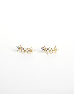 Lover's Tempo Floral Climber Earrings by Lover's Tempo