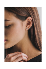 Lover's Tempo Astrid Stud Earrings in White Opal by Lover's Tempo