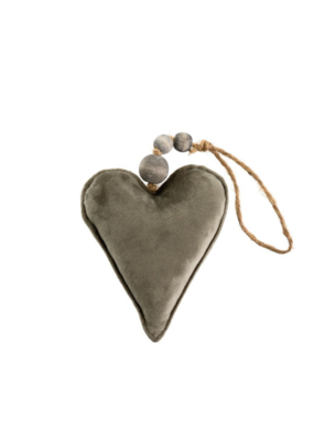 Velvet Heart Grey  Small