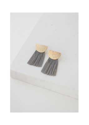 Lover's Tempo LT Earrings Sundown Fringe Grey