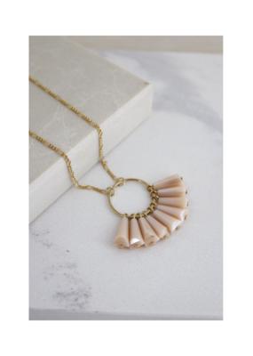 Lover's Tempo Confetti Necklace in Peach Rose by Lover's Tempo