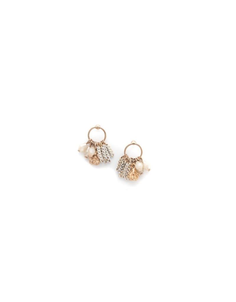 Lover's Tempo LT Jardin Cluster Hoop Earrings  White