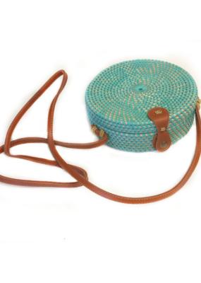 Round Rattan Bag Mint
