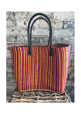 Medium Market Bag Bright Stripe