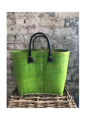 Small Market Bag Solid Green
