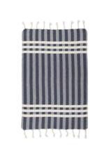 Criss Cross Turkish Hand Towel in Navy