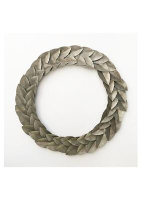 Galvanized Laurel Wreath