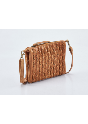 """Evelyn"" Leather Crossbody Handbag by Milo in Buckskin"