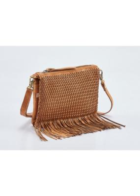 """Charlotte"" Leather Crossbody Handbag by Milo in Buckskin"
