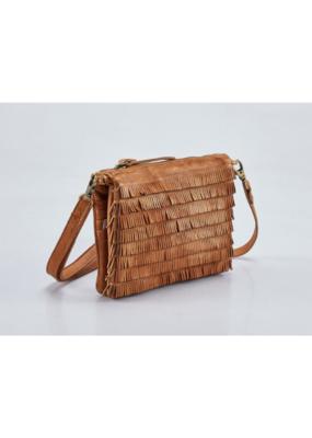 """Amelia"" Leather Crossbody Handbag by Milo in Buckskin"