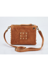 """Amelia"" Leather Crossbody Handbag by Milo in Buckskin"