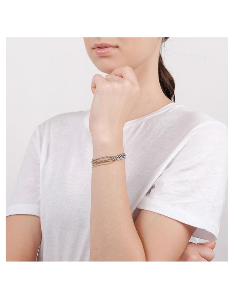 Ori Tao Mailles & Chaines  Bracelet Multi Chain