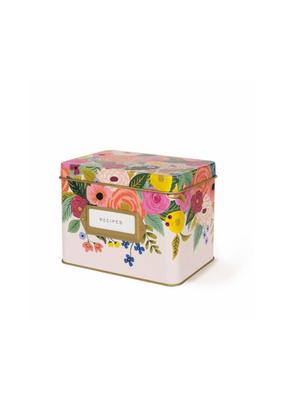 Rifle Paper Co. Juliet Rose Tin Recipe Box