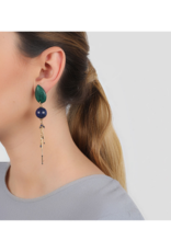 NATURE Agapanthe Lapiz Lazuli Tassel Earrings