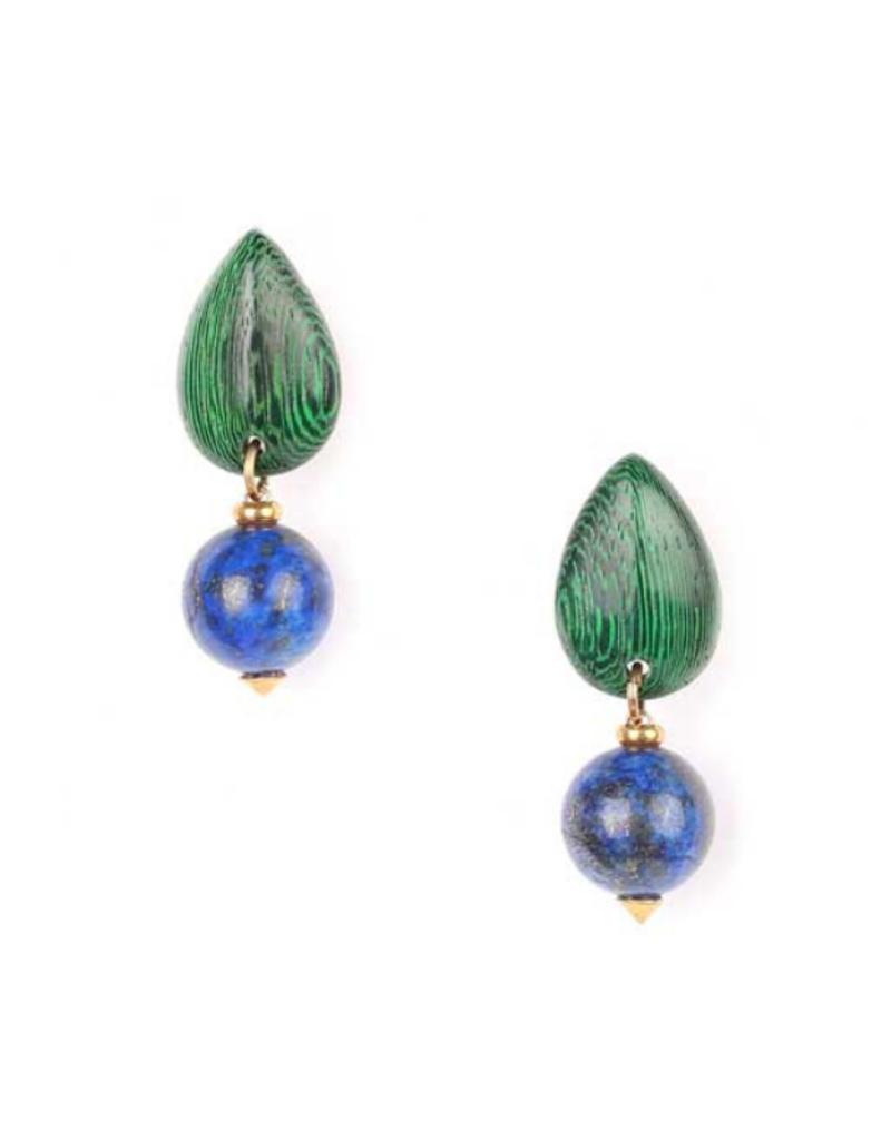 NATURE Agapanthe Round Bead Earrings