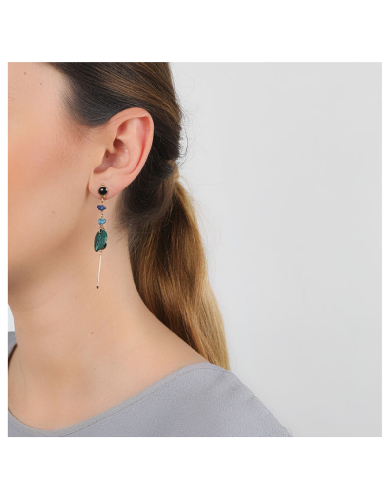 NATURE Agapanthe Leaf Earrings