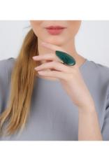 NATURE Agapanthe Green Oak Ring