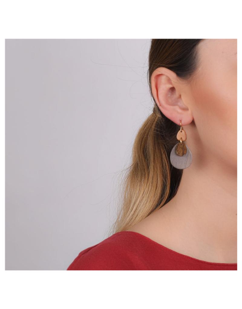 NATURE Chambord 3-Elements Hook Earrings