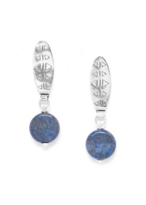 NATURE Constantine Lapis Lazuli Disc Earrings