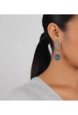 NATURE Constantine Lapis Lazuli Disc Earrings