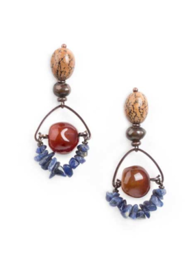 NATURE Malawi Agate Bead Earrings