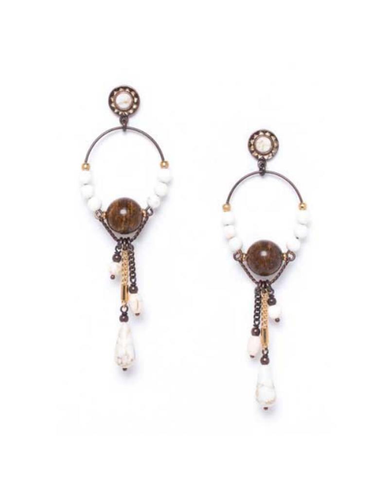 NATURE Saoura Bronzite Bead Earrings