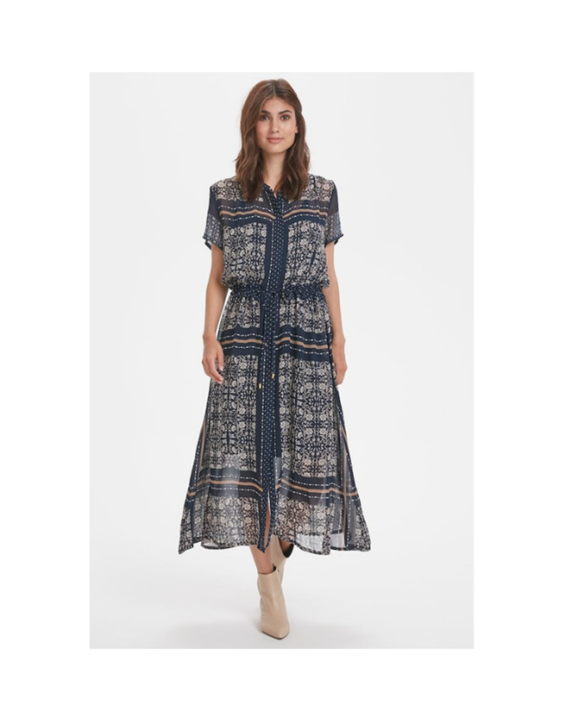 Part Two PART TWO Sigrid Dress, Blue Scarf Print