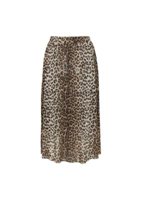 Soaked in Luxury SOAKED Easton Skirt, Pecan Brown Leopard
