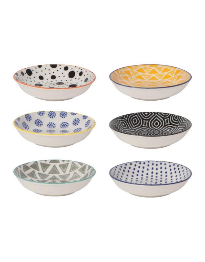 Pinch Bowl Set (6) With Bits & Dots