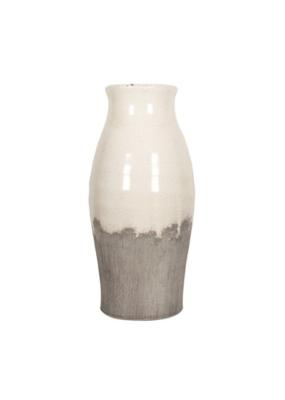 """Ceramic Vase, 2-Tone, 13"""""""