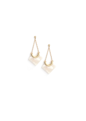 Lover's Tempo Libra Drop Earrings in White by Lover's Tempo