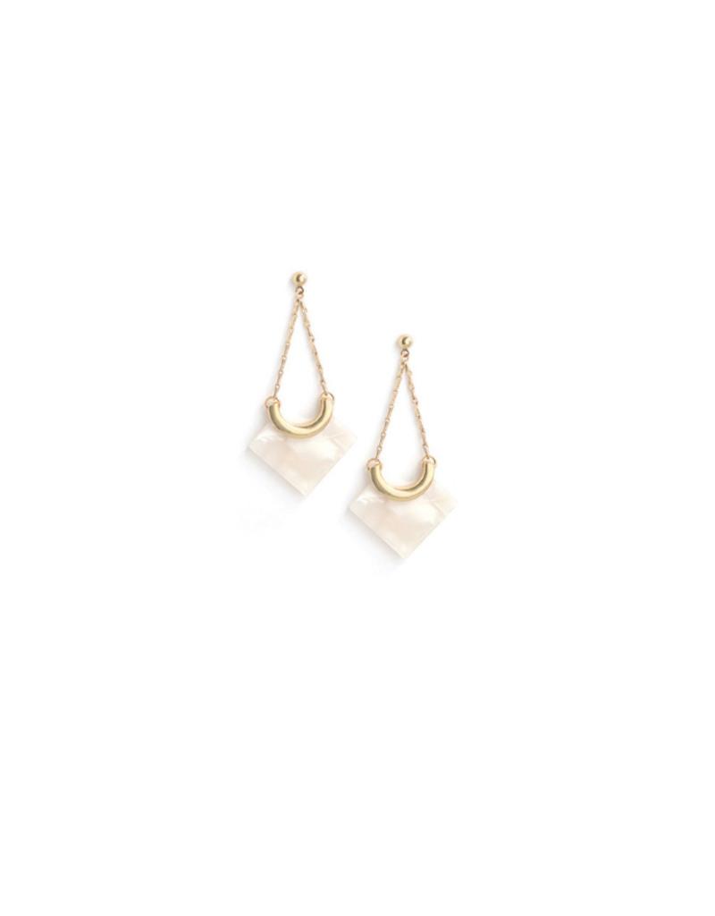 Lover's Tempo Lover's Tempo Earrings Libra Drop White