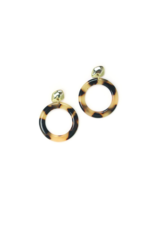 Lover's Tempo LT Earrings Odessa Hoop Tortoise