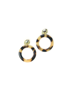 Lover's Tempo Odessa Hoop Earrings in Tortoise by Lover's Tempo