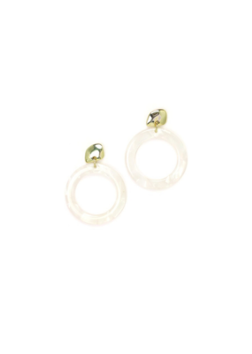 Lover's Tempo Lover's Tempo Odessa Hoop Earrings White