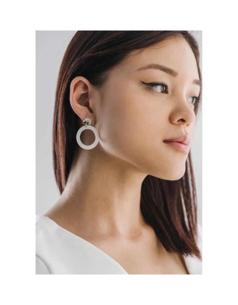 Lover's Tempo Lover's Tempo Odessa Hoop Earrings White