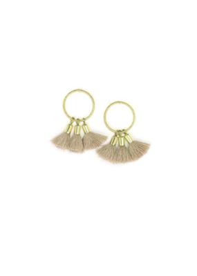 Lover's Tempo LT Duster Triple Tassel Post Earrings - Nude
