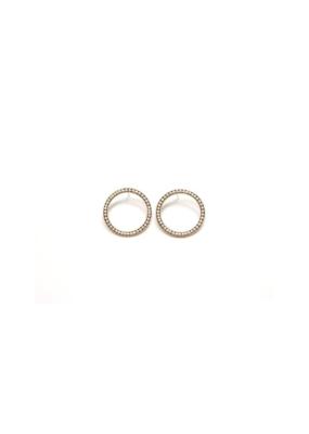 Lover's Tempo LT Portside Hoop Earrings - White