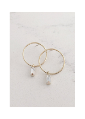 Lover's Tempo LT Colette Drop Hoop Earrings Gold
