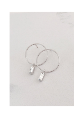 Lover's Tempo Lover's Tempo Colette Drop Hoop Earrings Silver