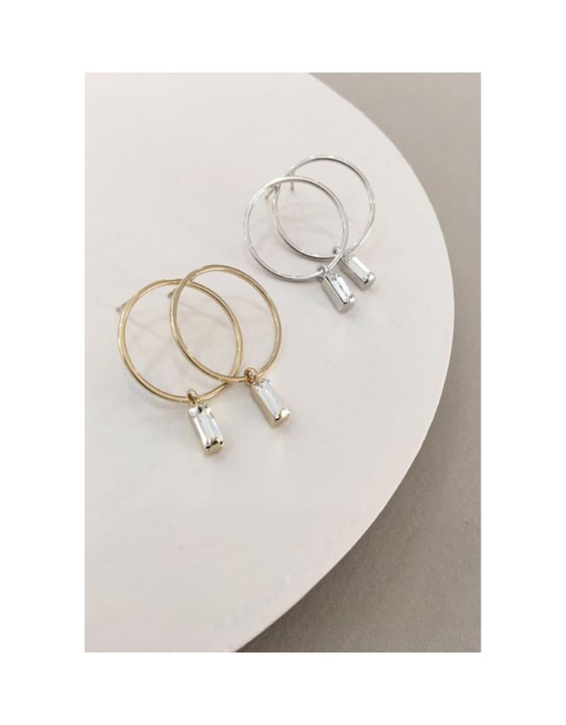 Lover's Tempo LT Colette Drop Hoop Earrings Silver