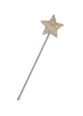 Mimi & Lula Gold Sparkle Sequin Star Wand