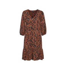 Soaked in Luxury Soaked in Luxury Maxwell Dress Burnt Henna Leopard