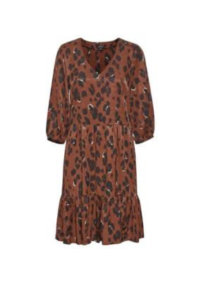 Soaked in Luxury Soaked in Luxury Maxwell Dress Burnt Henna Leopard