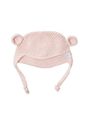 Beba Bean Beba Bean Crochet Bear Toque Pink