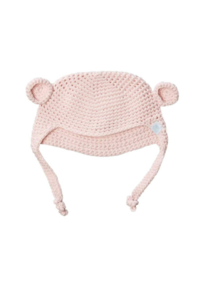 Beba Bean Crochet Bear Toque Pink