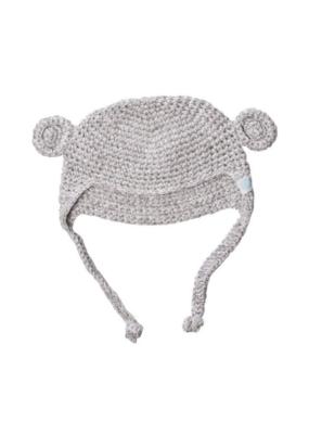 Beba Bean Beba Bean Crochet Bear Toque Grey