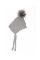 Beba Bean Beba Bean Pom Pom Hat Grey