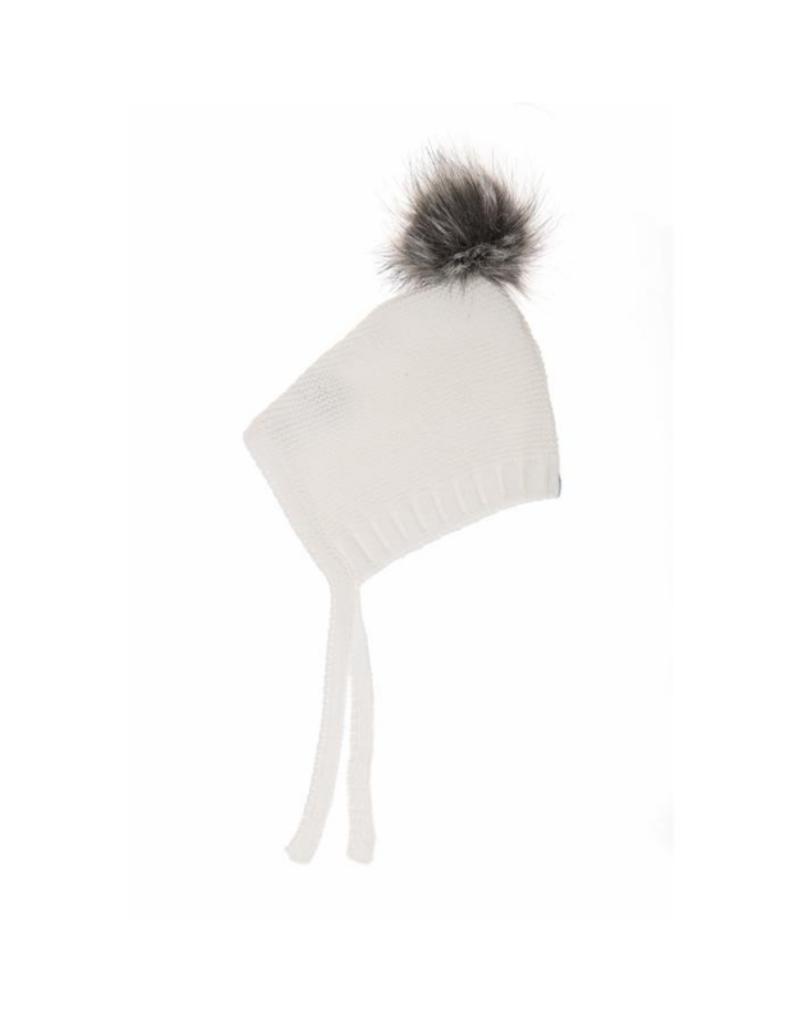 Beba Bean Beba Bean Pom Pom Hat Ivory