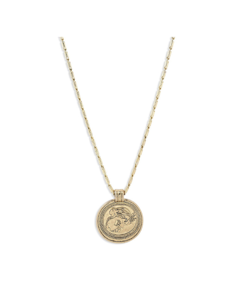 PILGRIM Pilgrim Goddess Ran Coin Necklace in Gold or Silver